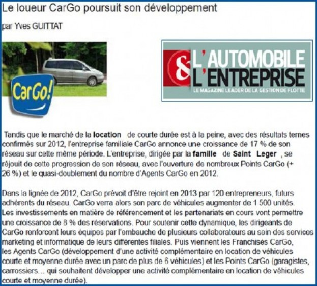 Article Automobile & Entreprise