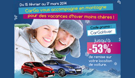 CarGo - News - Promo for winter 2014 holiday!